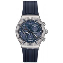 Swatch Men's Watch Irony Chrono Teckno Blue YVS473 Chronograph