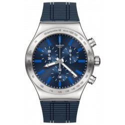 Swatch Men's Watch Irony Chrono Electric Blue YVS478 Chronograph