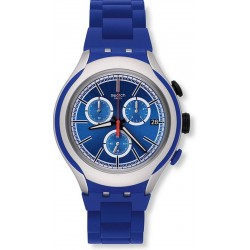 Swatch Men's Watch Irony Xlite Blue Attack YYS4017AG Chronograph