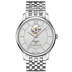 Tissot Men's Watch Tradition Powermatic 80 Open Heart T0639071103800